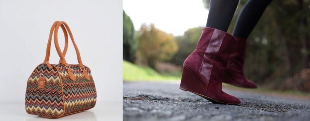 Zapatos con cuña y bolso Marga de Misako