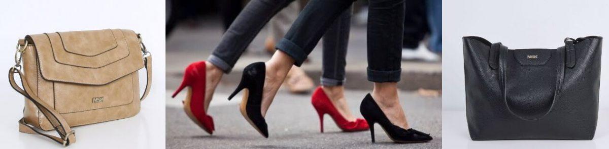 Zapatos y bolsos Misako con colores lisos