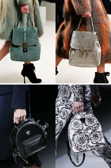 Mochilas de pasarela en Lanvin y Versace