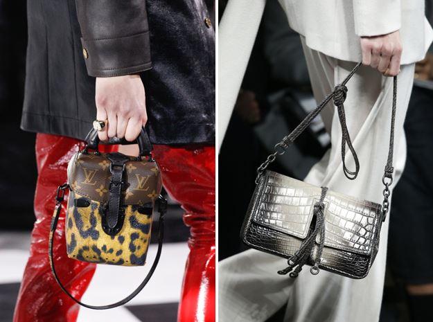 Bolsos adornados de Louis Vuitton y Bottega Veneta