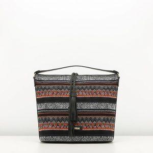 AFRICAN bolso con mezcla de prints de Misako