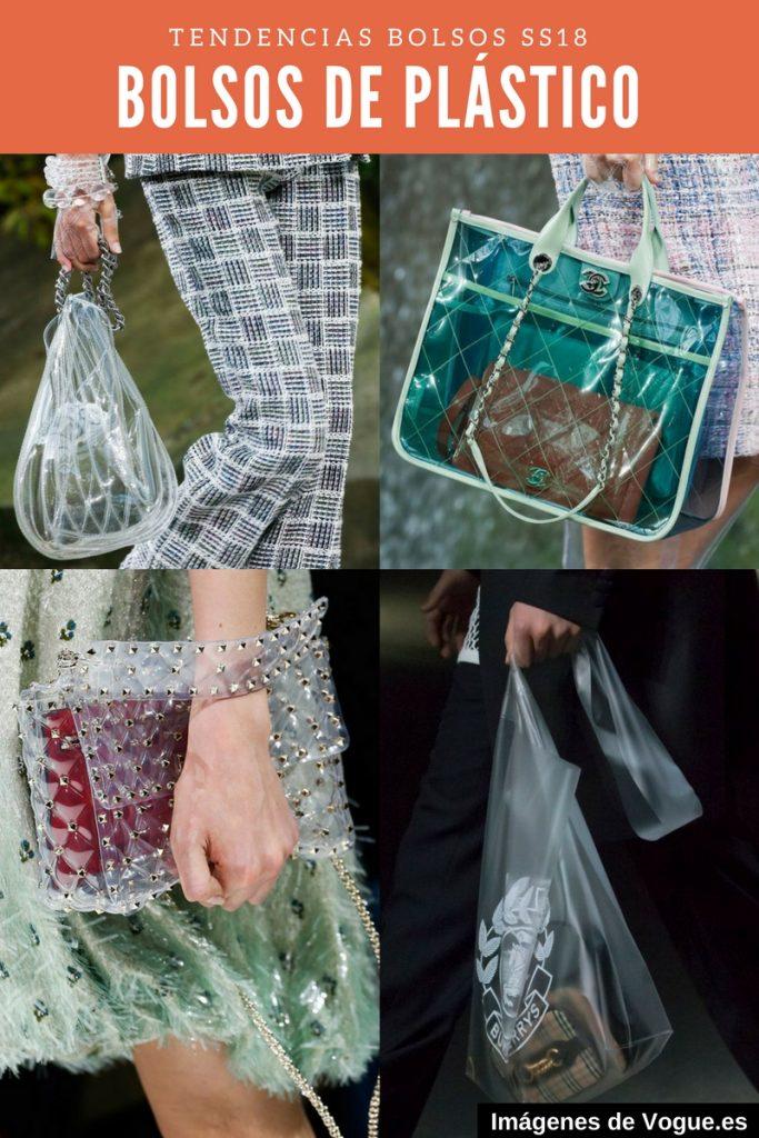 Tendencias - Bolsos de plástico transparentes
