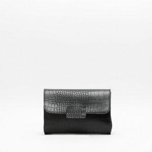 Ortensia bolso fiesta- Tendencia textura cocodrilo