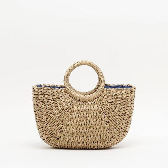 Kar bolso tipo cesta y de mano de rafia de Misako
