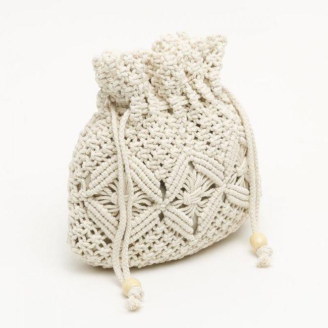 Crochete bolso bandolera pequeño en algodón